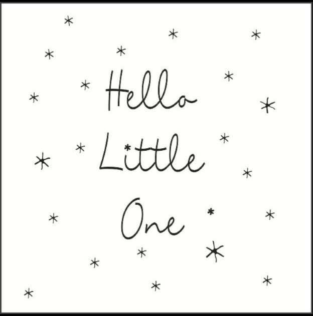 CARD - Hello little one
