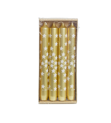 CANDLE GOLD STARS
