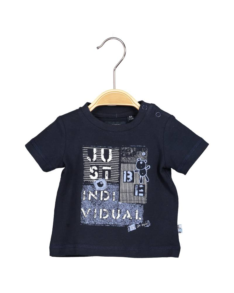 -50% Blue Seven donkerblauw T-shirt Little blue chap