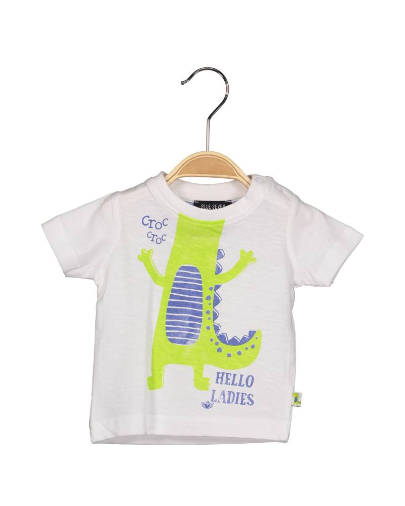-50% Blue Seven wit T-shirt Wild Croco