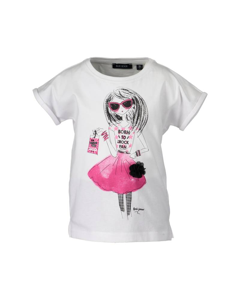 -50% Blue Seven wit T-shirt Pink Glamour