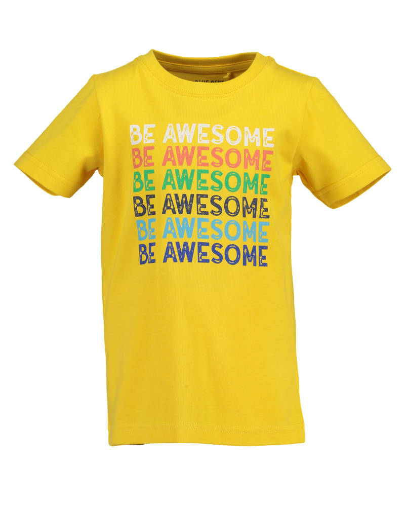 -50% Blue Seven Geel t-shirt Be Awesome