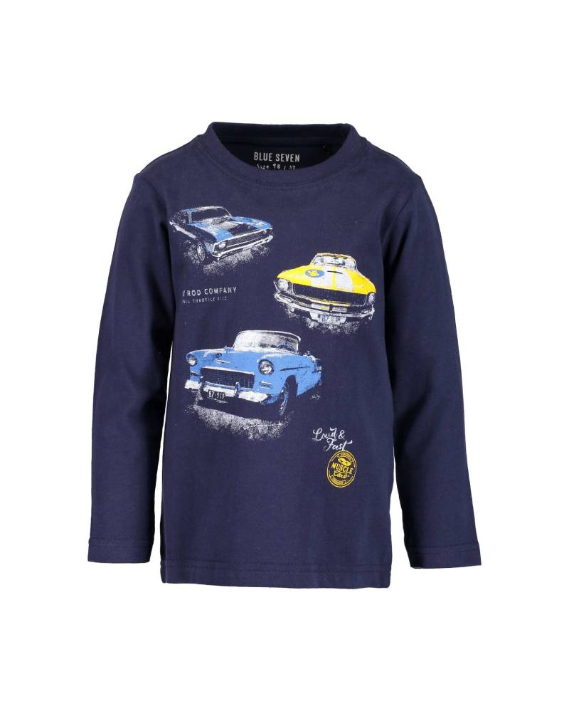 -50% Blue Seven Kn Donkerblauw shirt Muscle Car