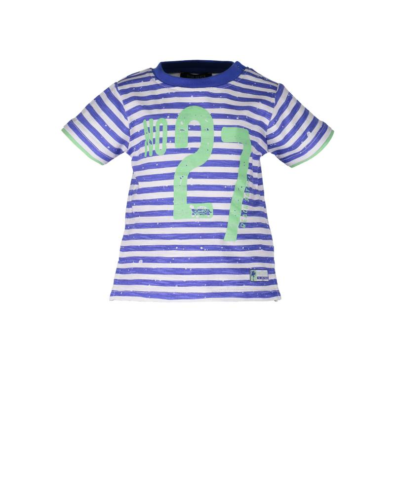 -50% Blue Seven T-shirt blauw streep Chief of the beach