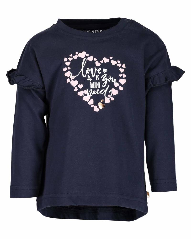 -50% Blue Seven Md Donkerblauw shirt My sweetheart