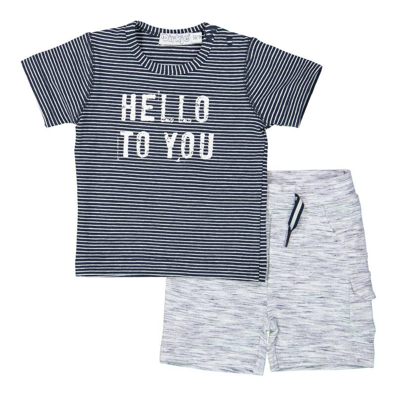 -50% Dirkje T-shirt + short Hello to you