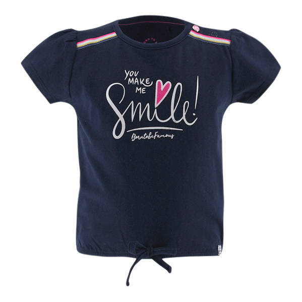 Born to be Famous Donkerblauw t-shirt Smile