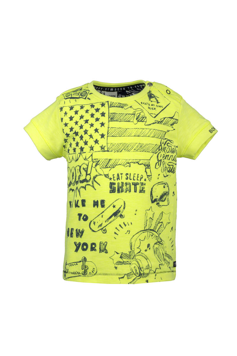 -50% Born to be Famous Geel T-Shirt