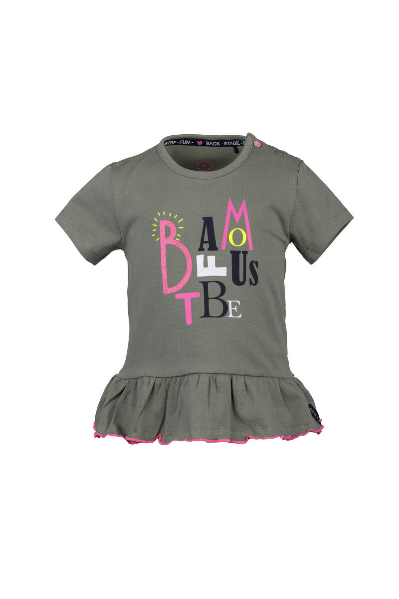 -50% Born to be Famous Meisjes T-Shirt Legergroen