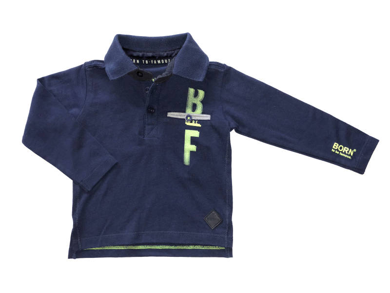 -20% Born to be Famous Donkerblauwe polo