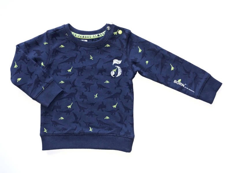 -50% Born to be Famous Donkerblauwe sweater