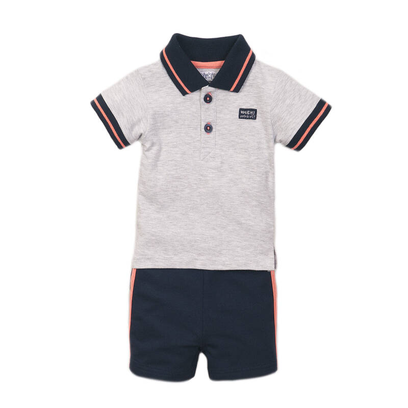 Dirkje Grijze polo + short
