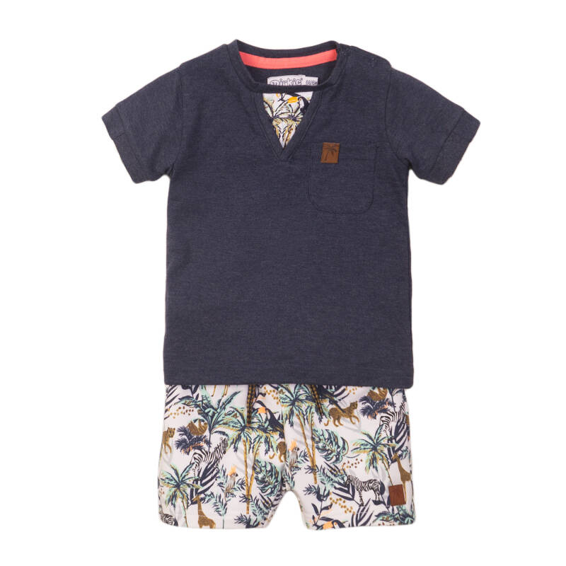 Dirkje Donkerblauw t-shirt + short Jungle