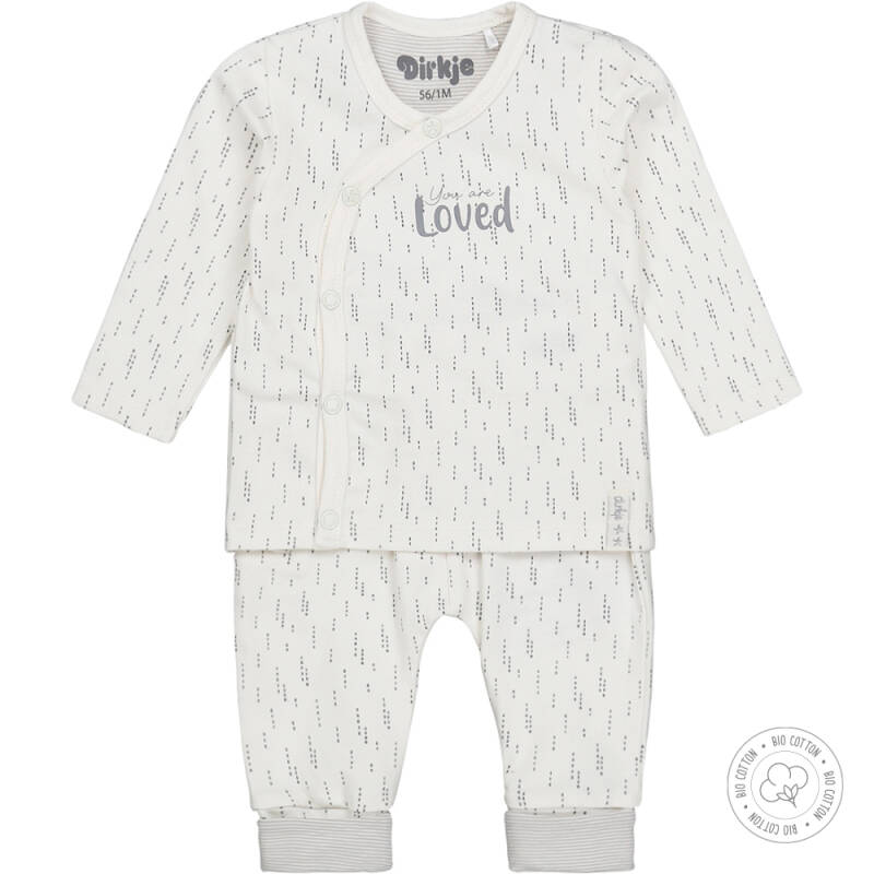 Dirkje Bio Cotton Wit overslag shirt + broek