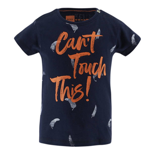 -50% Born to be Famous Donkerblauw t-shirt Can't touch this!