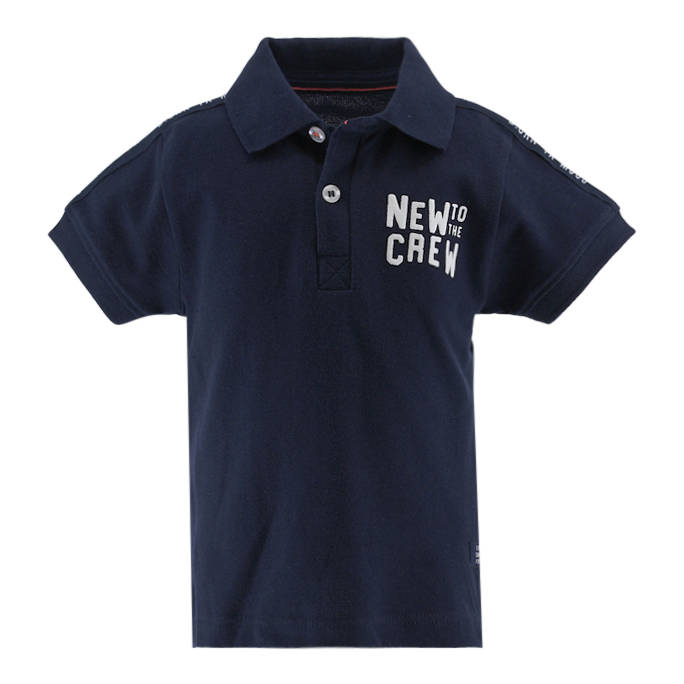 Born to be Famous Donkerblauwe polo