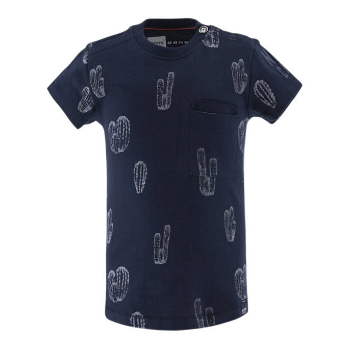 -50% Born to be Famous Donkerblauw  t-shirt Cactus