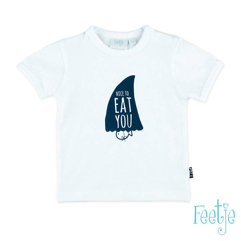 -50% Feetje T-Shirt wit Nice To Eat You