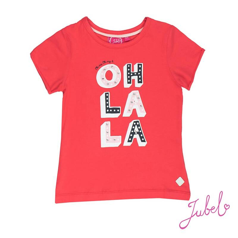 -50% Jubel T-shirt k/m Oh la la rood Sea View