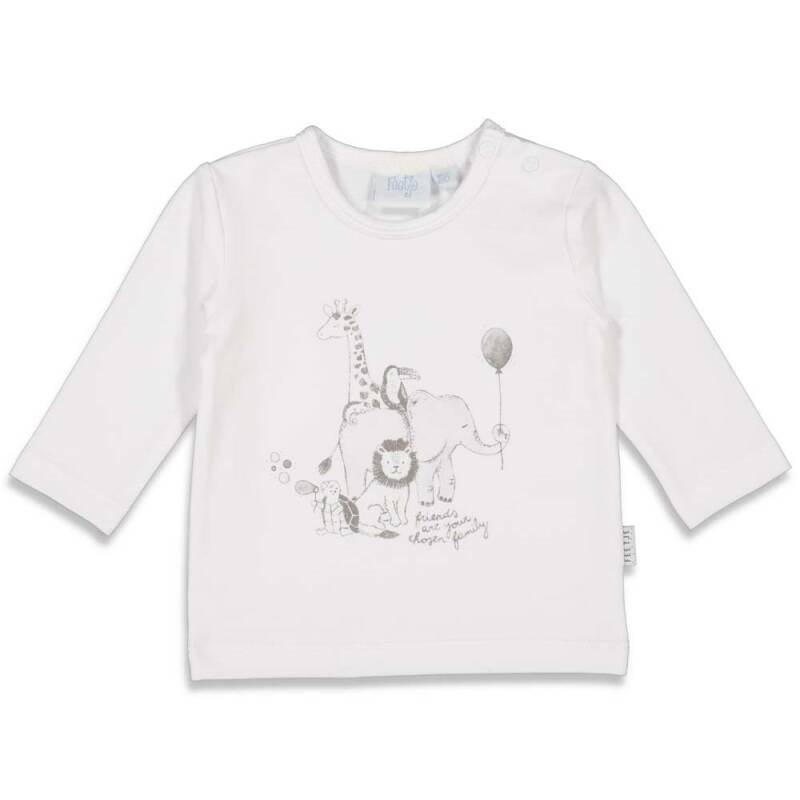 Feetje Longsleeve wit - Animal Friends