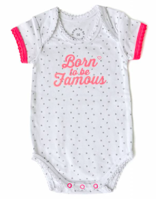 Born to be Famous romper roze
