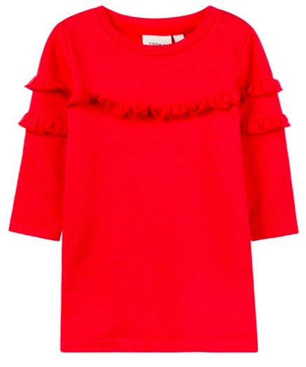 -50% Name it NBFNELISA SWE DRESS BRU True Red