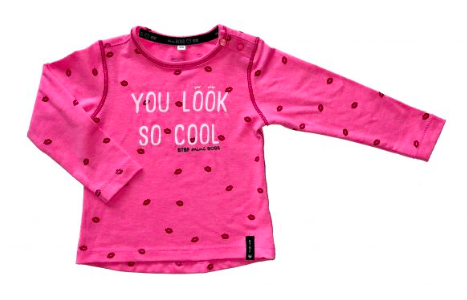 -50% Born to be Famous Roze lipjes shirt