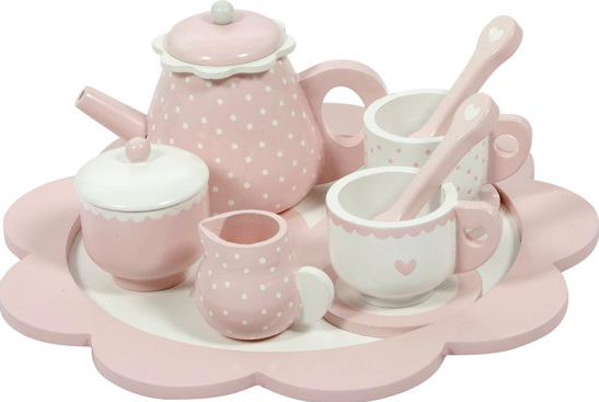 Little Dutch Houten Thee service roze