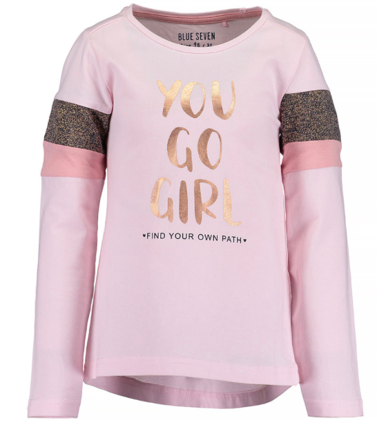 -50% Blue Seven Shirt You Go Girl Roze