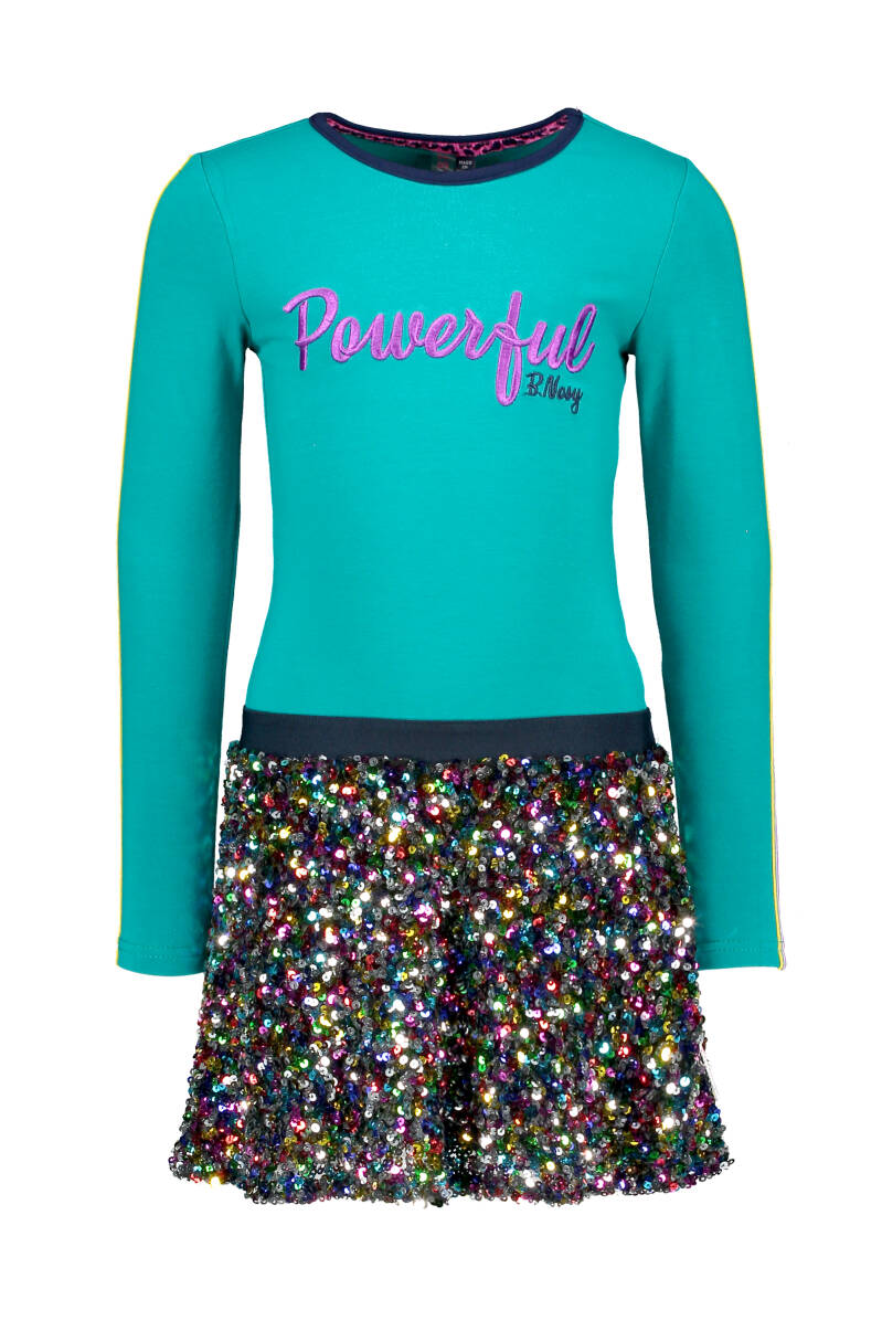 -50% B.Nosy Jurk Powerful pailletten