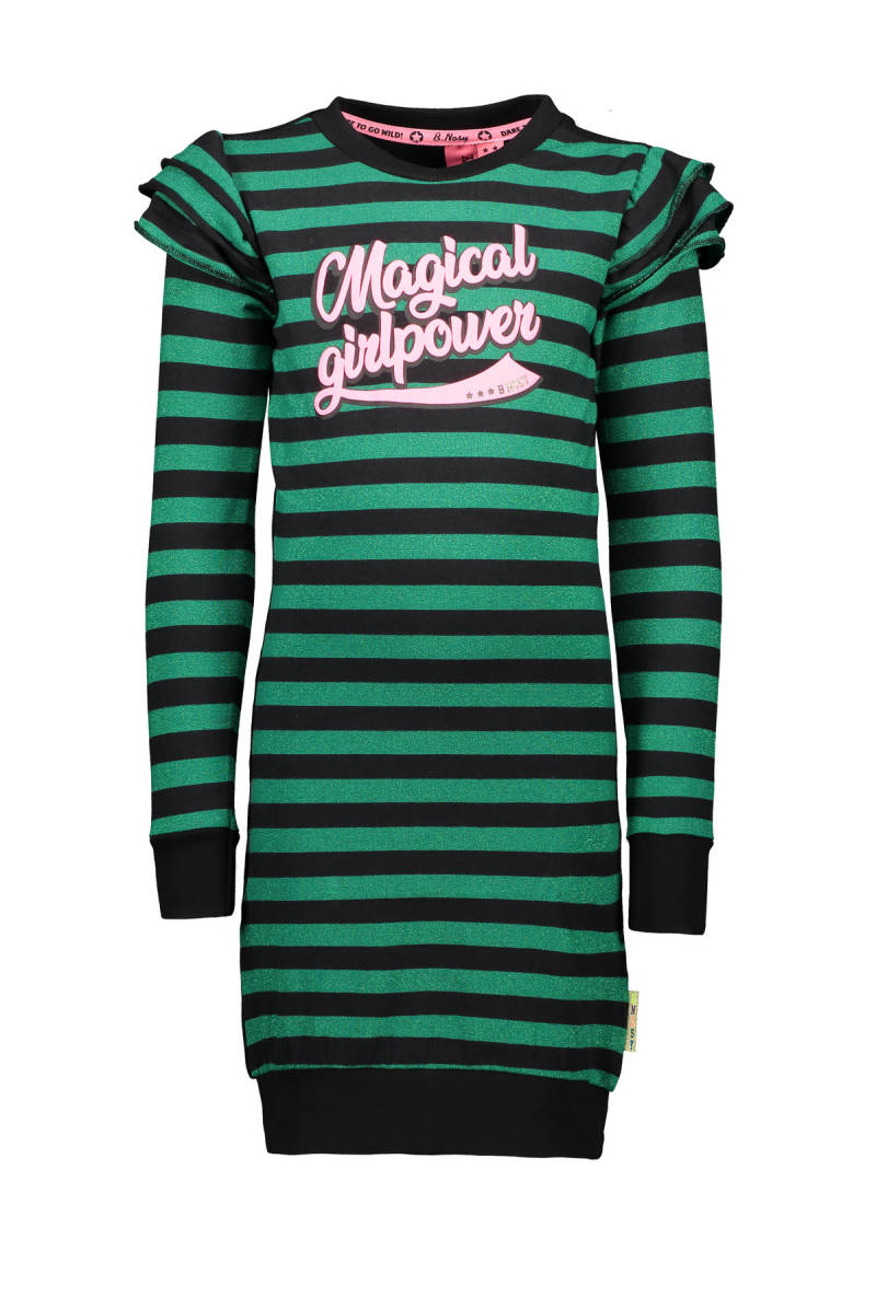 -50% B.Nosy Gestreepte jurk Magical Girlpower