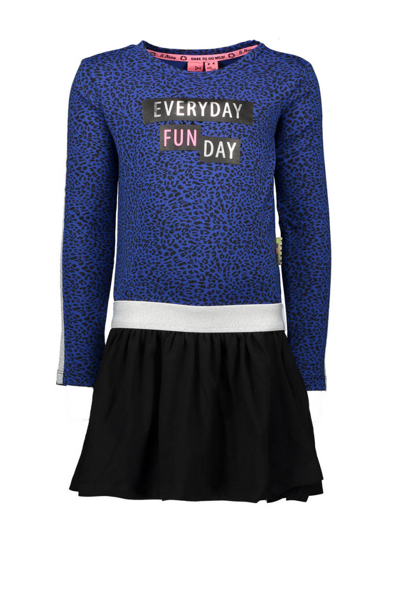B.Nosy Jurk blauw panter Everyday Fun Day