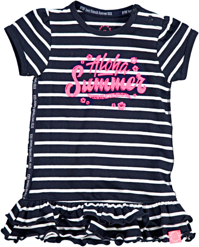 -50% Born to be Famous jurk navy/white stripe