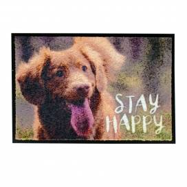 Vloermat indoor stay happy 60x40cm