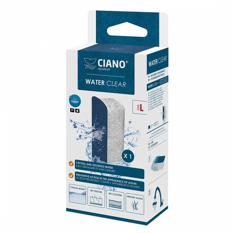 Water clear large 1st. blauw L