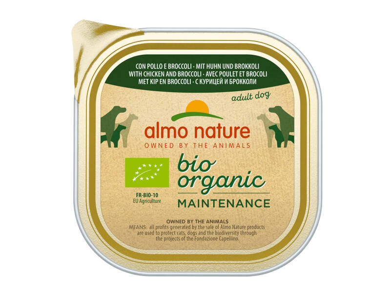 Almo nature bio organic dogs kip & broccoli (9X300G)