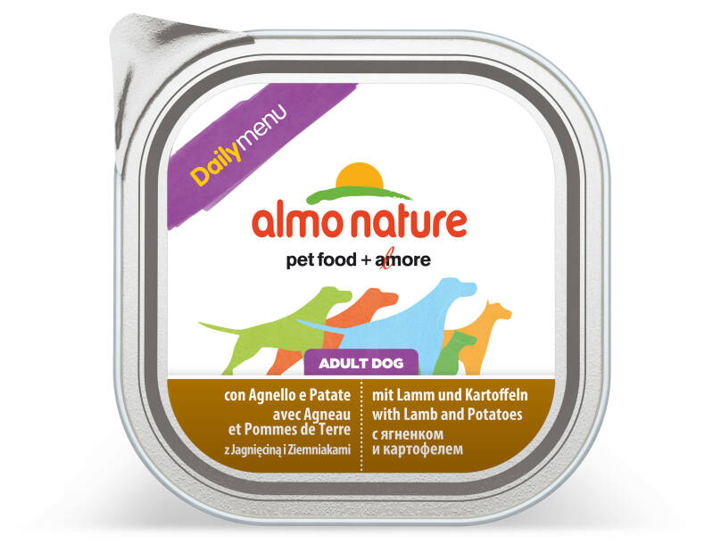 Almo nature daily dogs lam & aardappelen (9X300G)