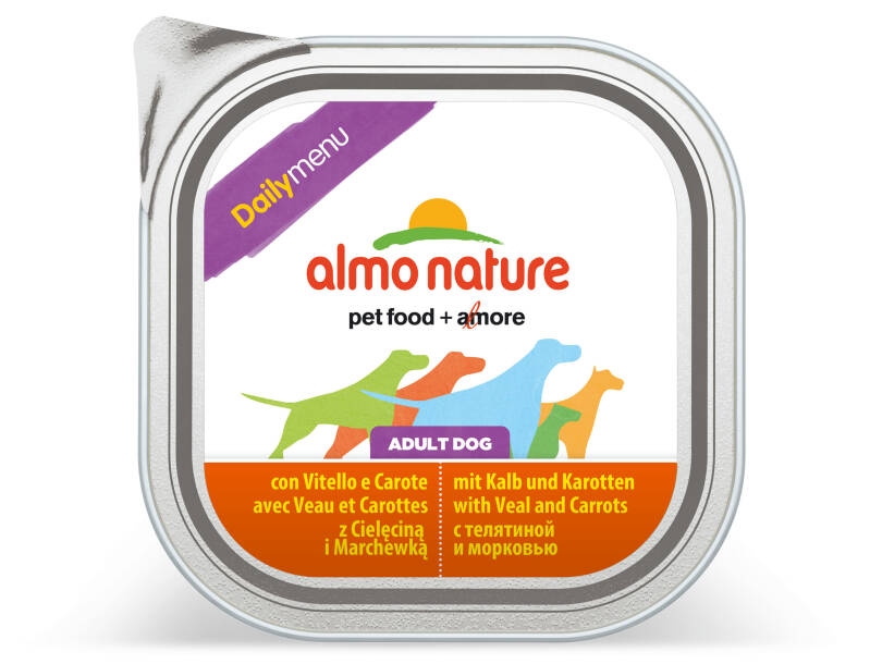 Almo nature daily dogs kalf & wortelen (9X300G)