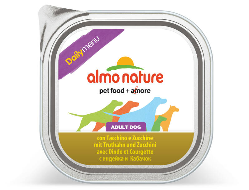 Almo nature daily dogs kalkoen & courgette (9X300G)