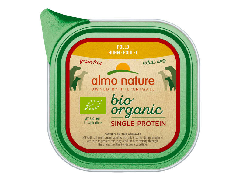 Almo nature bio organic dogs single protein kip (11X150G)