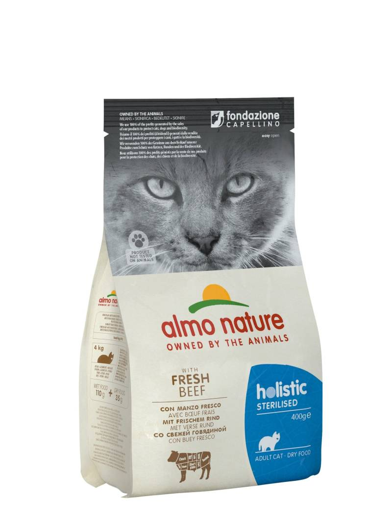 Almo nature holistic cats sterilised rund en rijst
