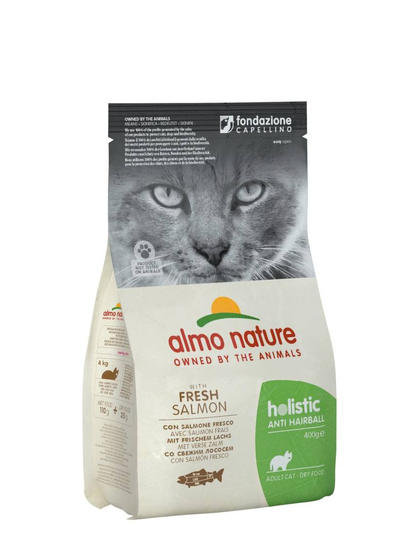 Almo nature holistic cats anti-hairball vis en aardappelen
