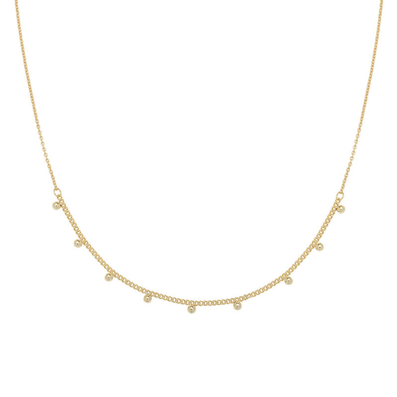Tiny Studs Necklace - gold