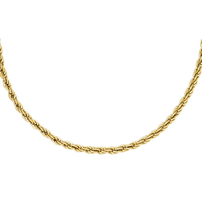 Twisted Chain Necklace - gold