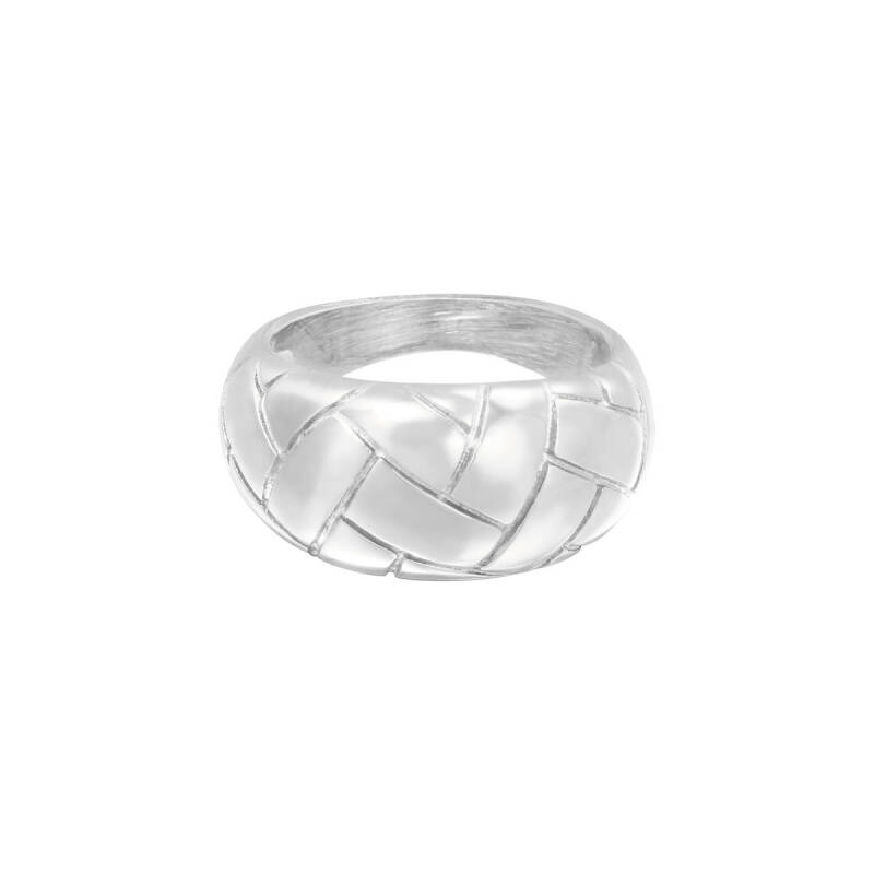 Braided Ring - silver