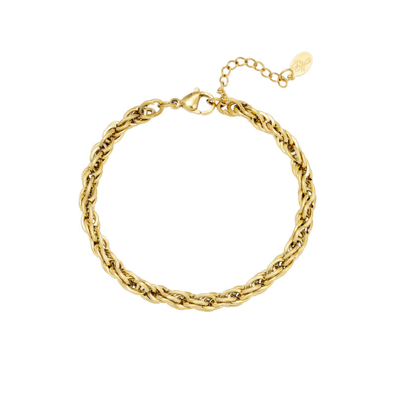 Twisted Chain Bracelet - gold