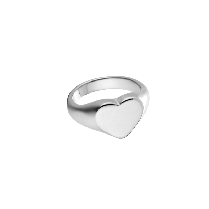Heart Bold Ring - silver