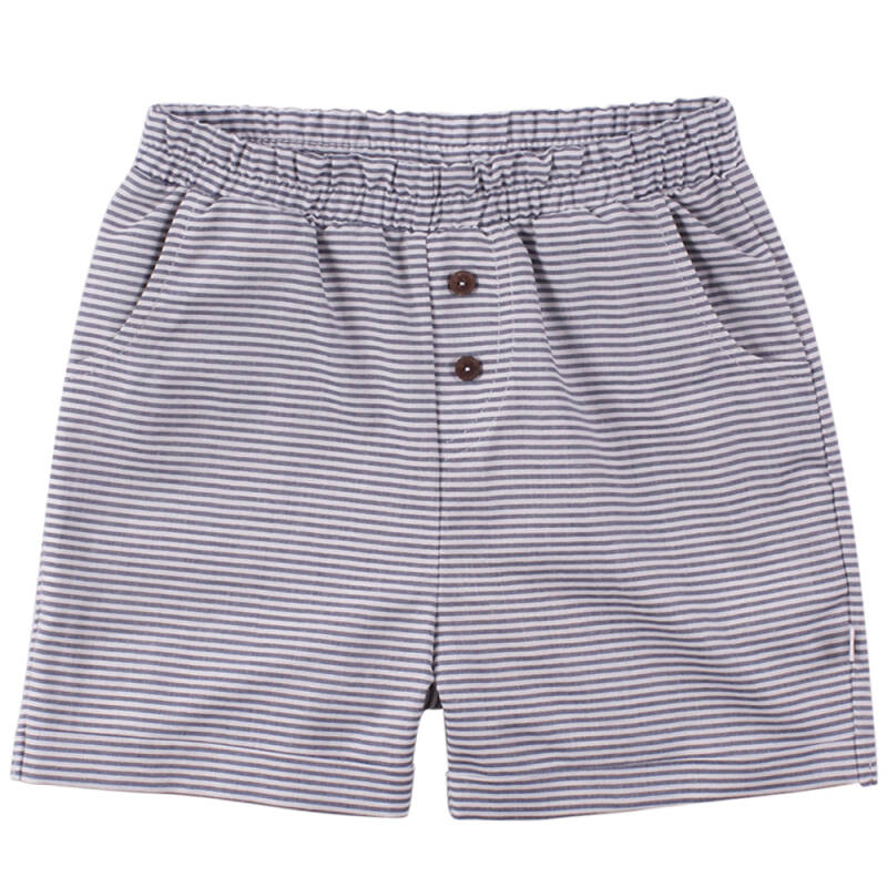 Müsli Woven Stripe Shorts - White/Blue Stripe