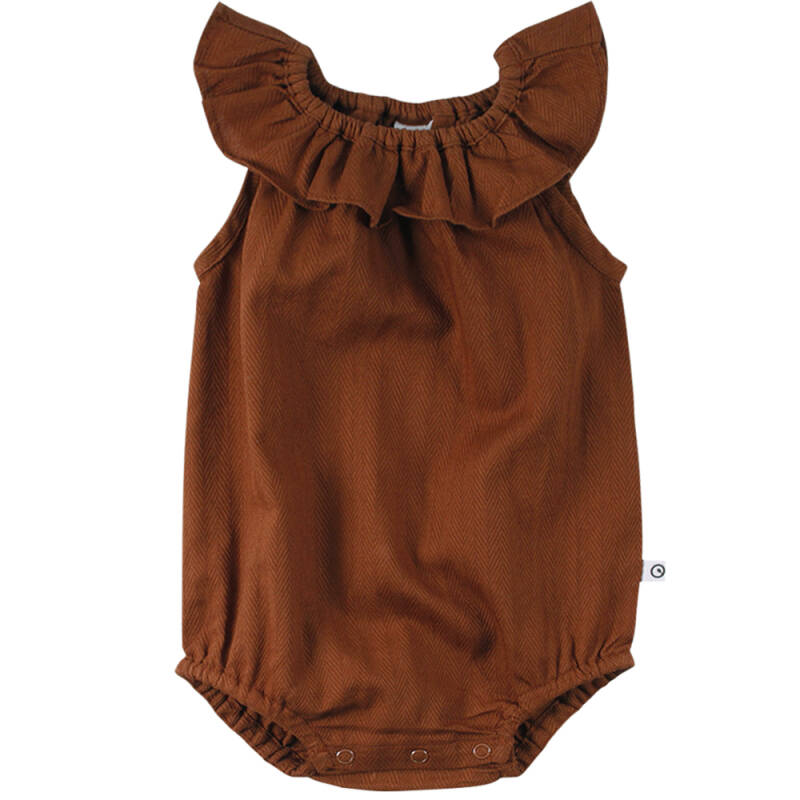 Müsli Woven Sleeveless Body - Ocher
