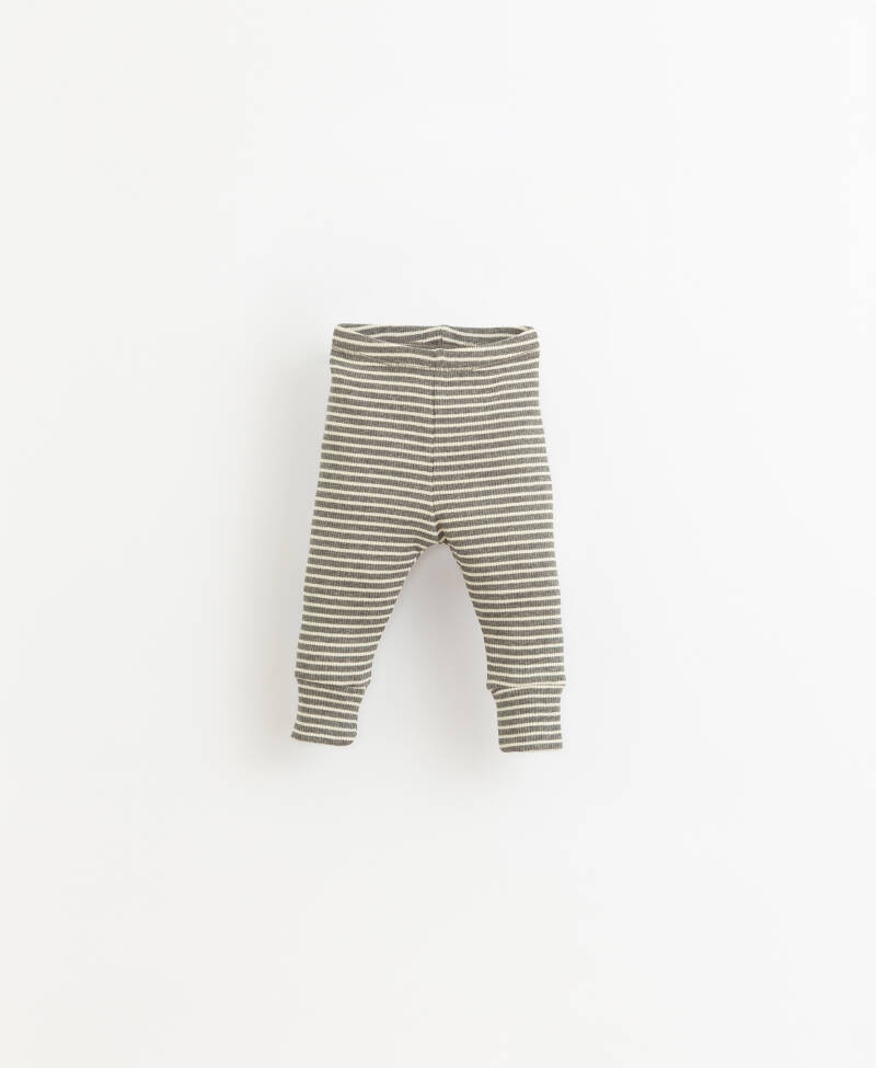 Play Up Striped Body Leggings - Grey